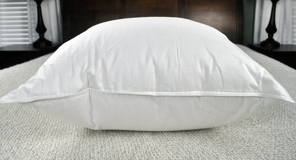 slumber cloud cirrus duck down pillow review side