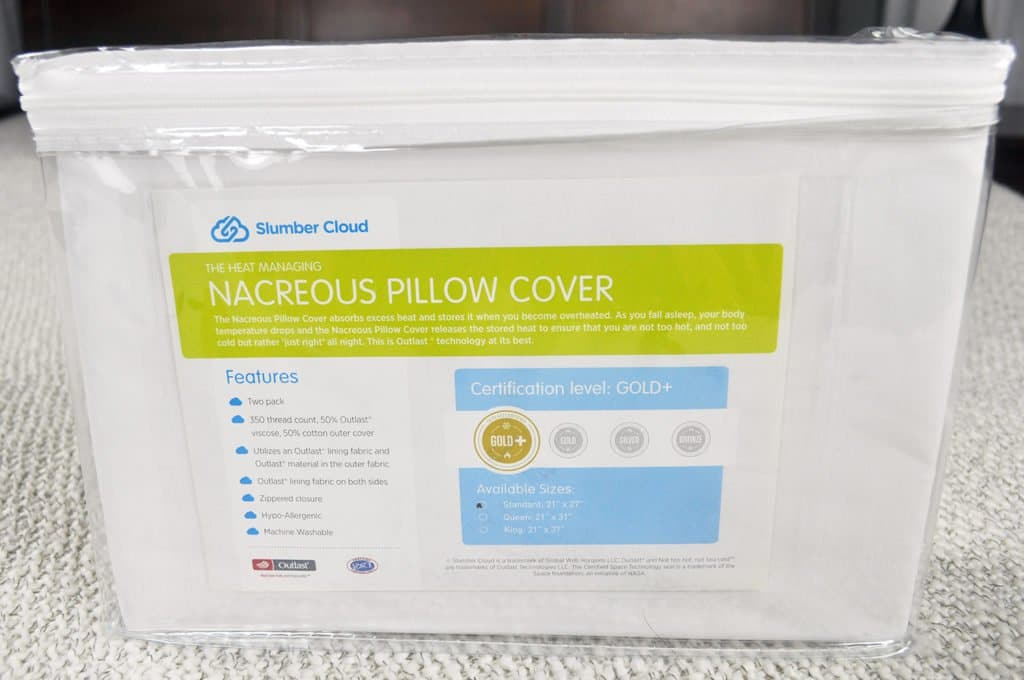 slumber cloud nacreous pillow cover review