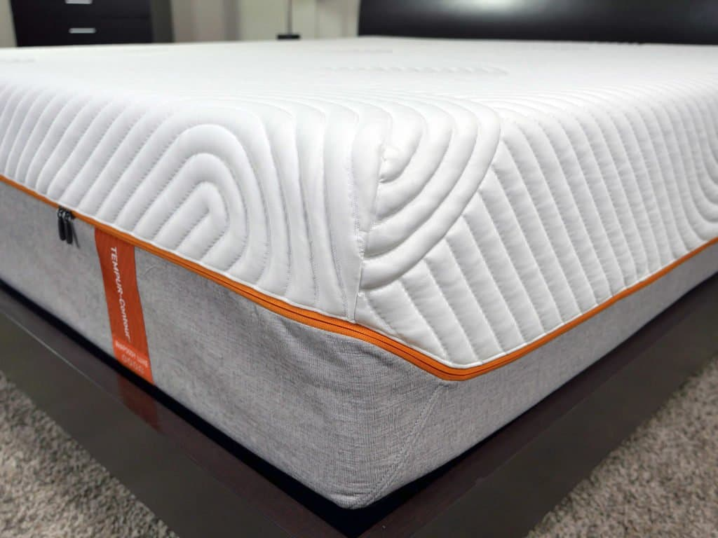 Close up shot of the Tempurpedic Contour Rhapsody Luxe mattress cover