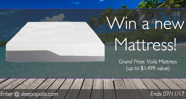 Enter today for your chance to win a new Voila mattress!