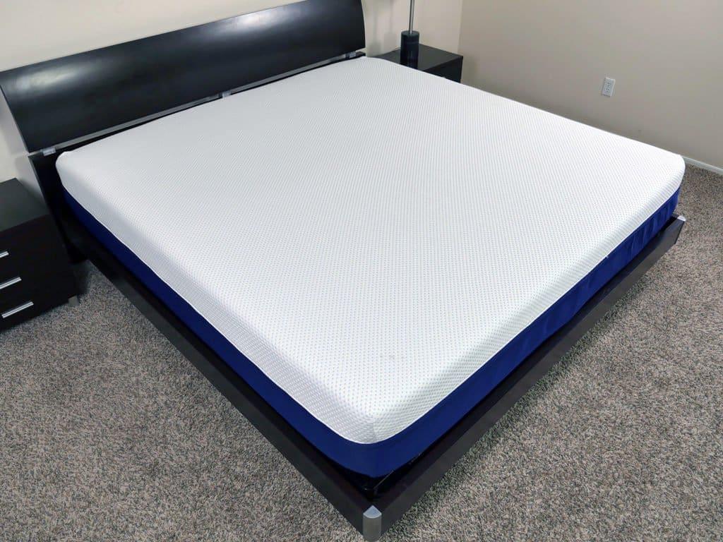 Angled view of the Amerisleep AS3 mattress