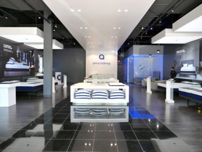Inside the Amerisleep showroom