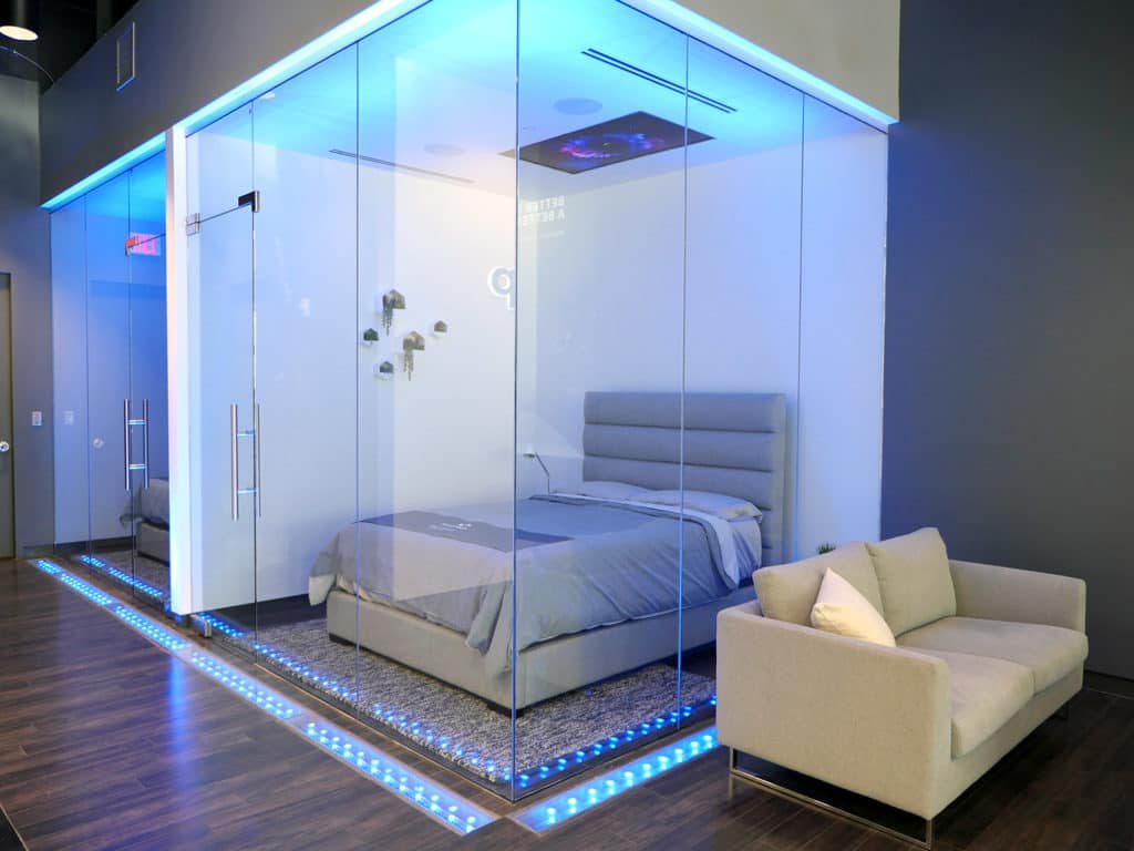 Amerisleep features two nap pods in their showroom