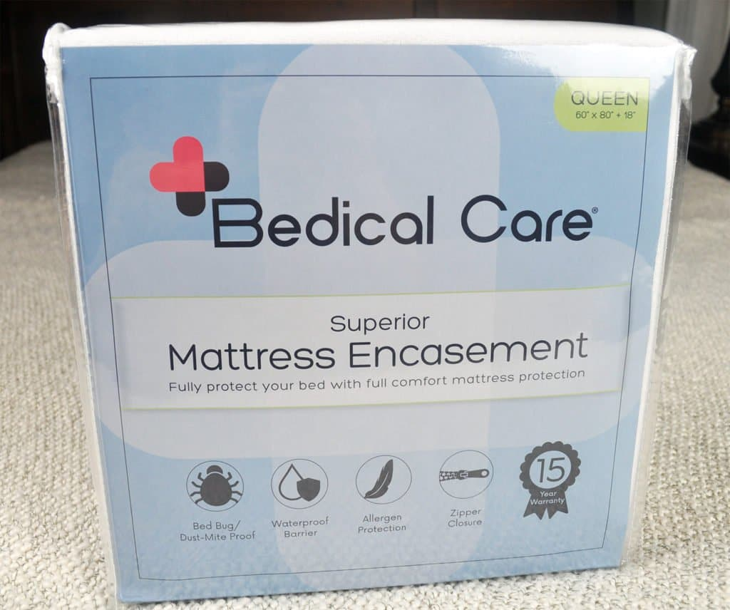 bedical care mattress protector packaging