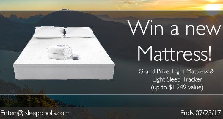 Enter today for your chance to win a brand new Eight mattress and sleep tracker!