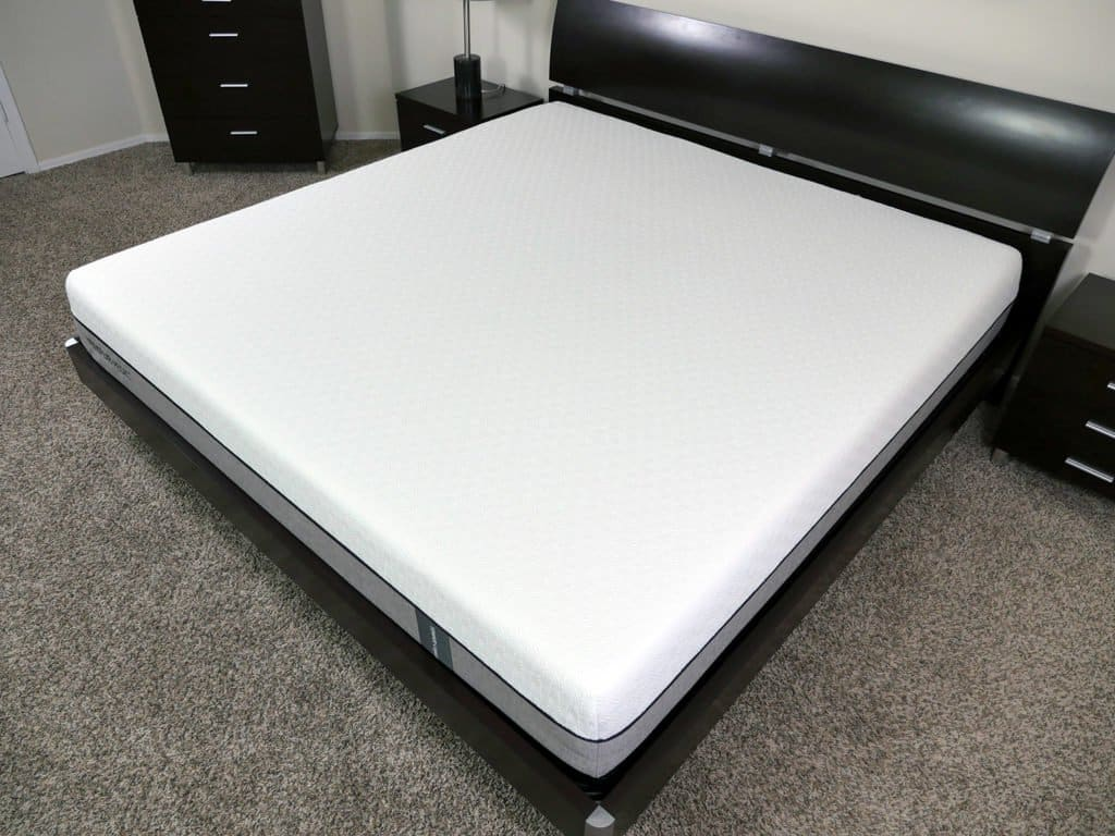 Angled view of the Tempurpedic Legacy mattress