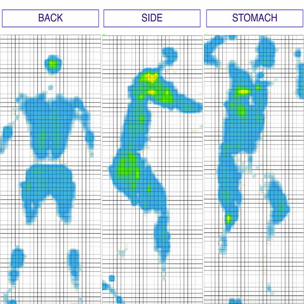 Casper Wave Mattress Pressure Map Test