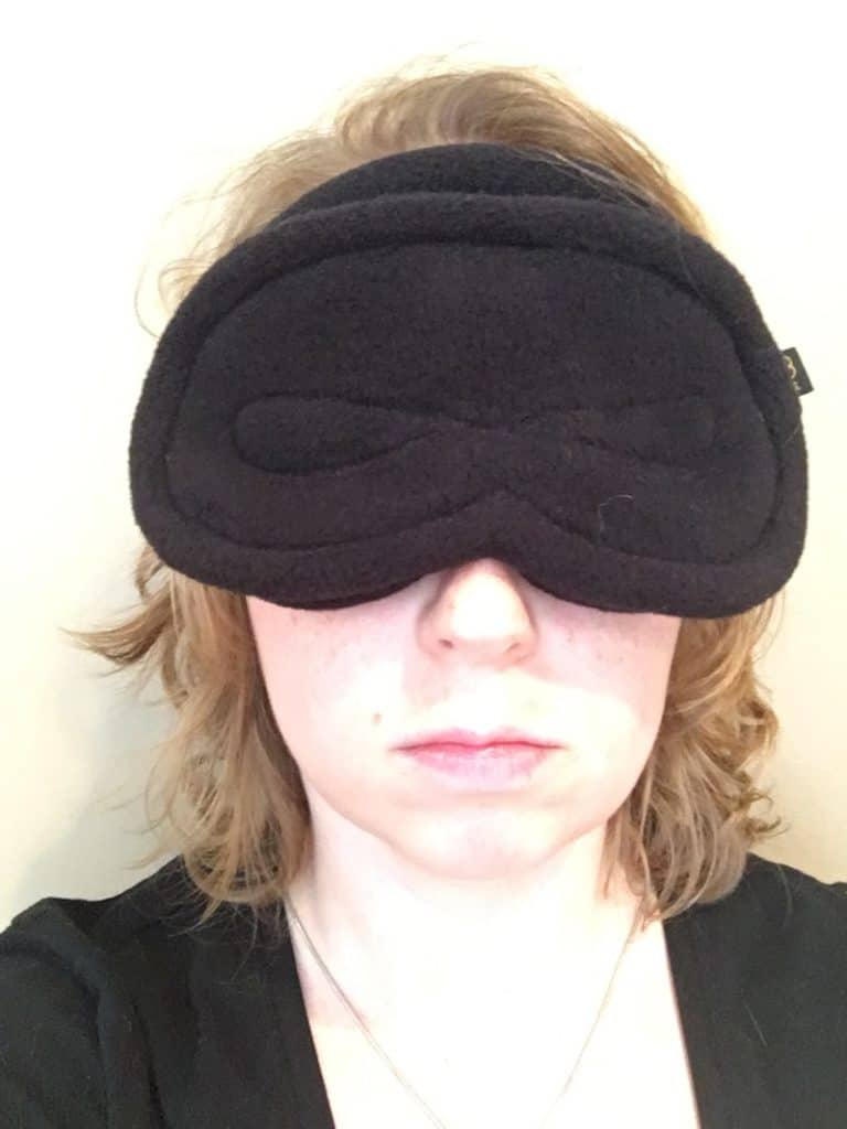 Infinity Sleep Mask Wearing