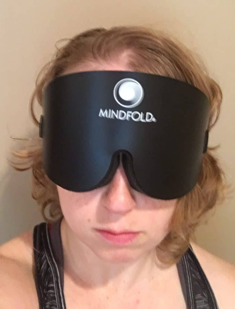 Mindfold Sleep Mask Wearing