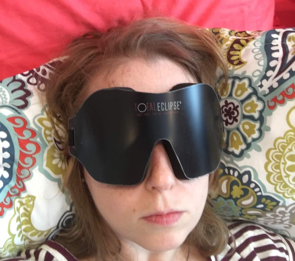 Total Eclipse Sleep Mask Wearing