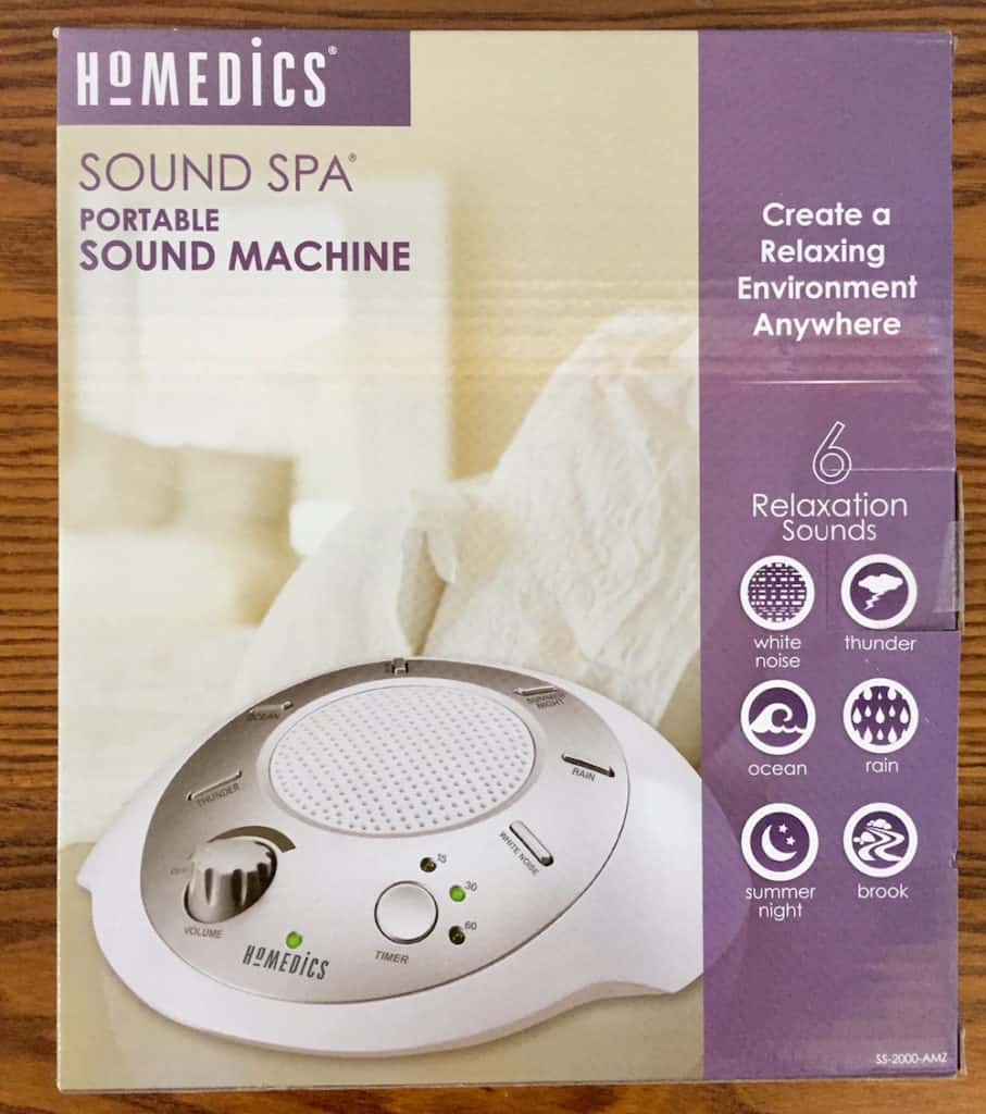 Homedics Sound Spa Packaging