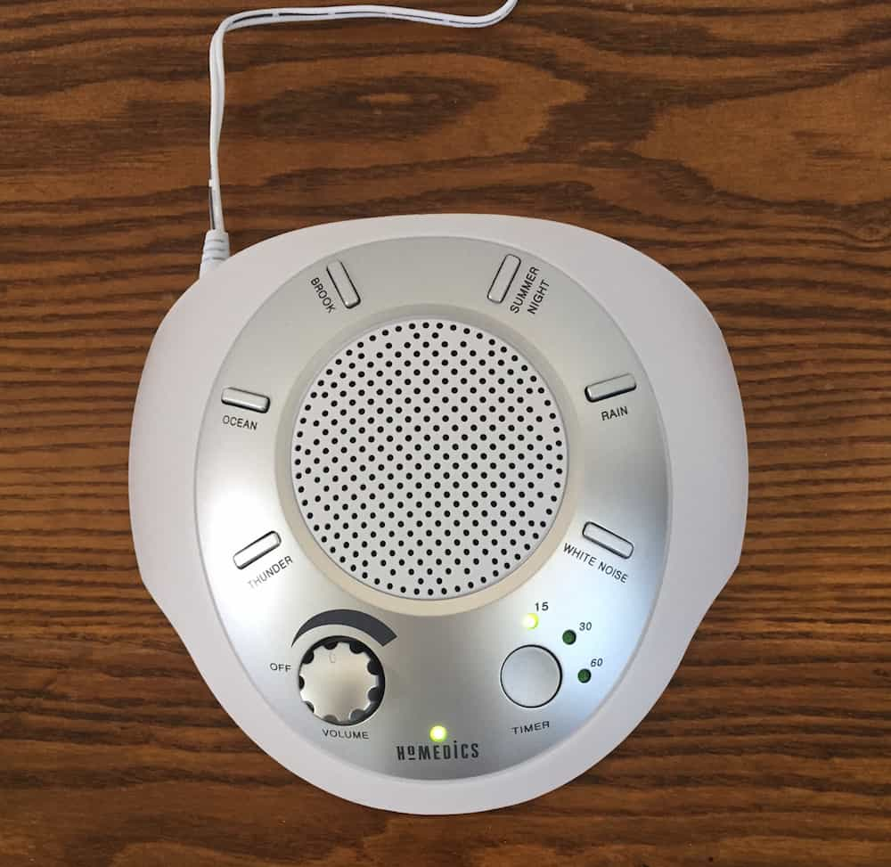 HomedicsSoundSpaTopView Homedics Sound Spa Portable Sound Machine Review