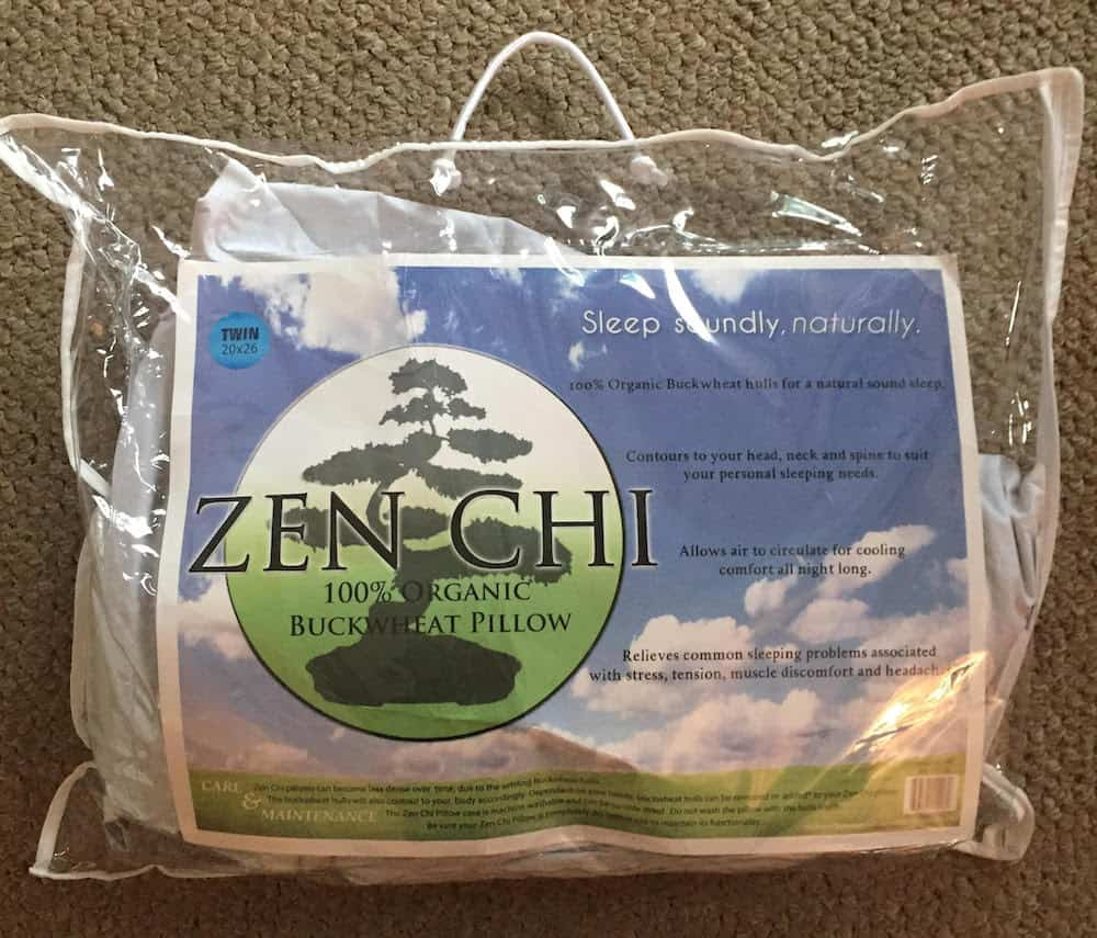 Zen Chi Buckwheat Pillow Packaging