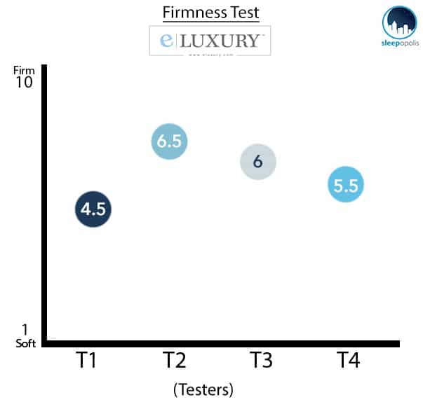 eLuxury Supply Firmness Graph