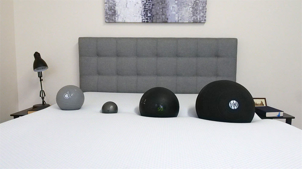 Amerisleep AS3 mattress sinkage test