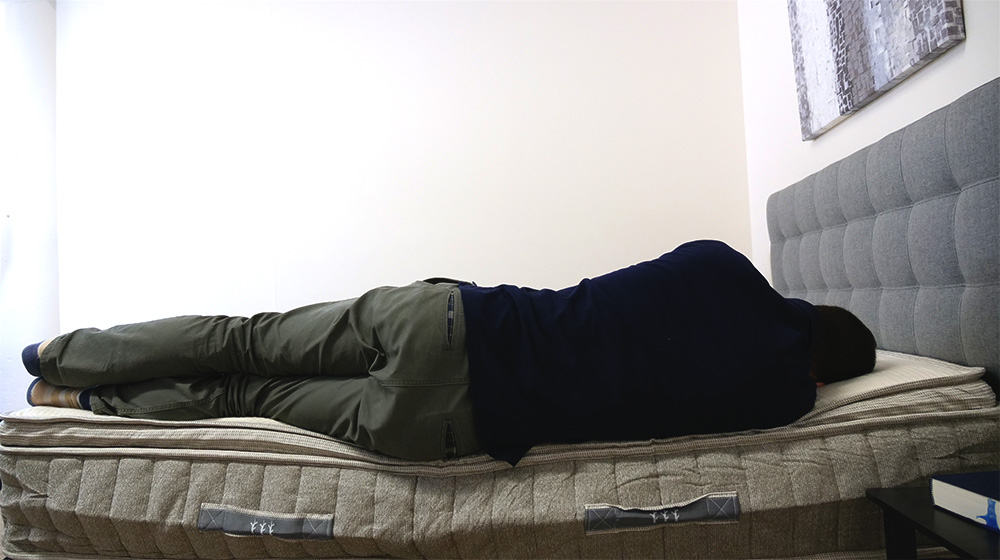 Side sleeping on the Brentwood Cedar mattress