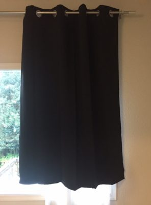 Deconovo Black Thermal Insulated Blackout Panel