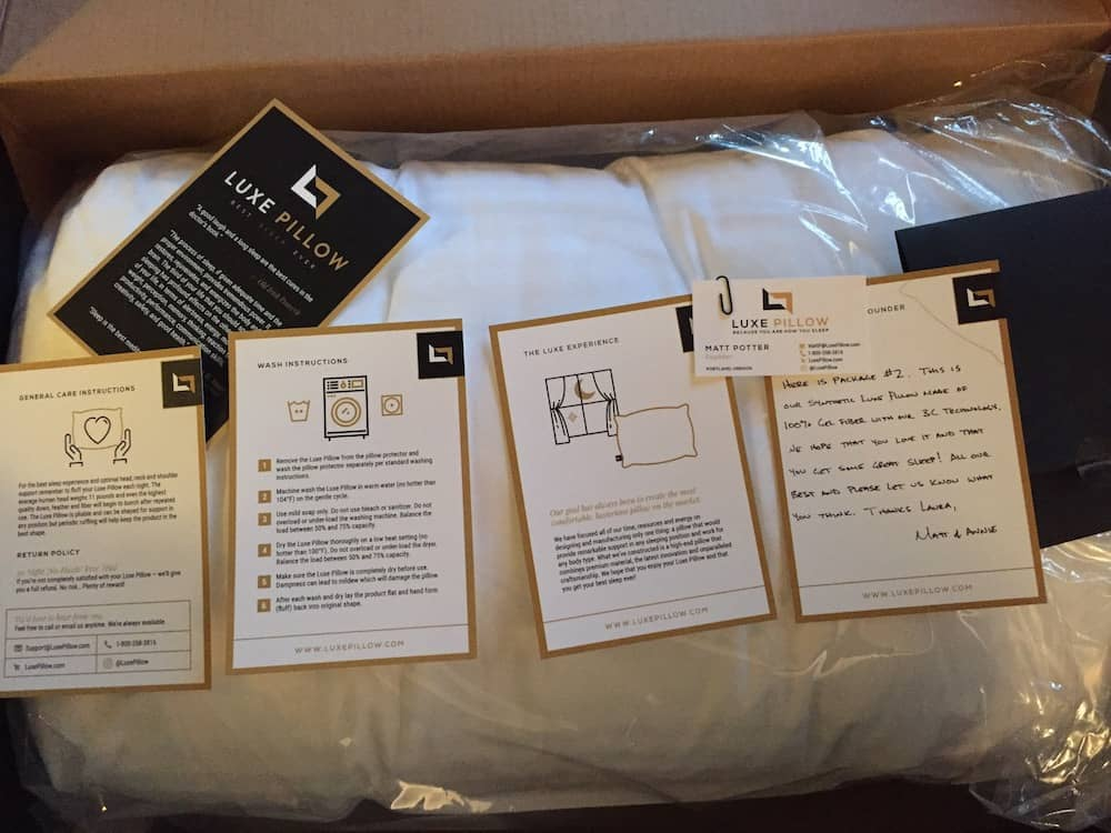 Luxe Down Packaging And Instructions