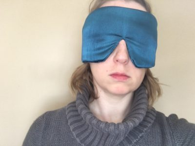 Sleep Master sleep mask on face