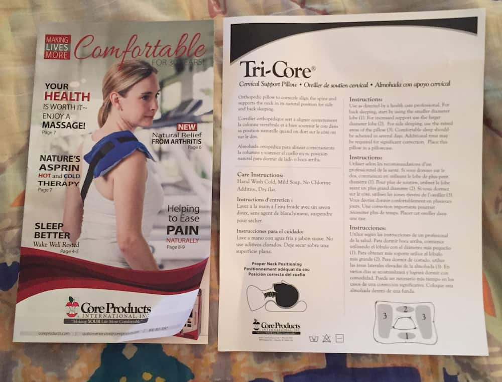 Tri-Core Gentle Support Pillow Instructions