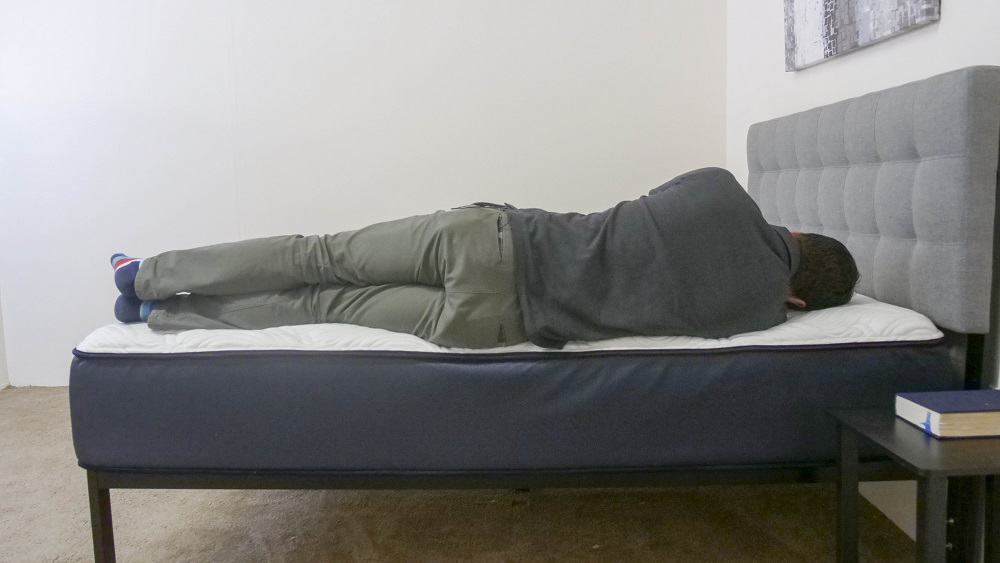 Side sleeping on the Big Fig mattress