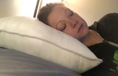 Good Life Shredded Memory Foam Pillow Side Sleep