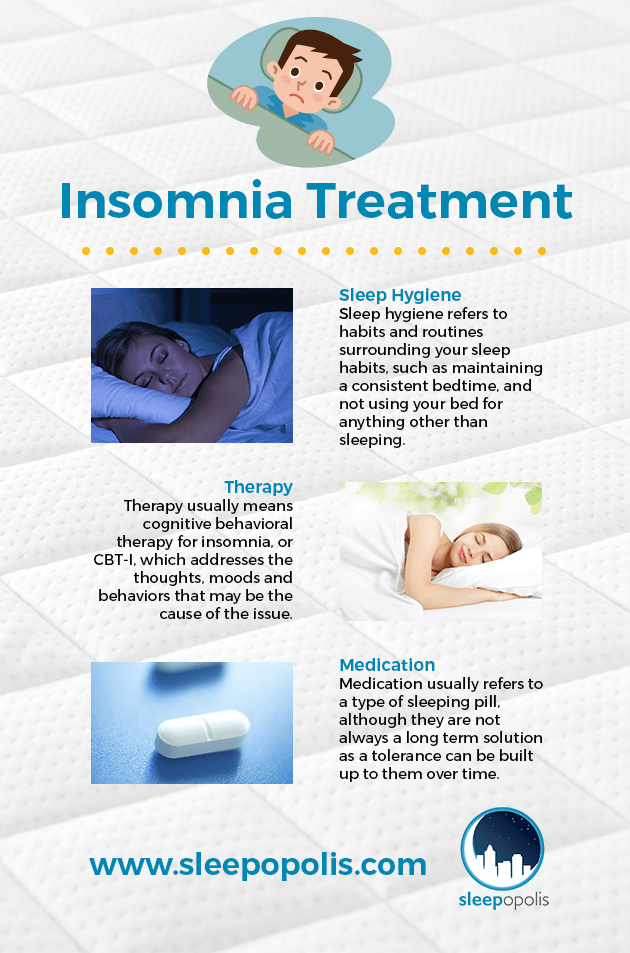 Insomnia Treatments Infographic