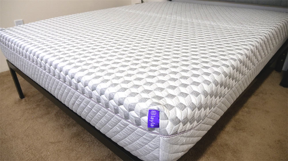 close up of the layla mattress - Best Foam Mattress