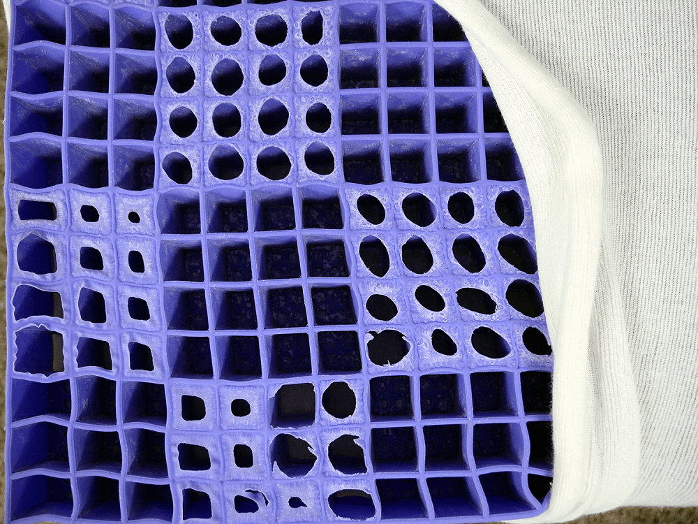 Purple-Grid-Structure Best Mattress for Couples