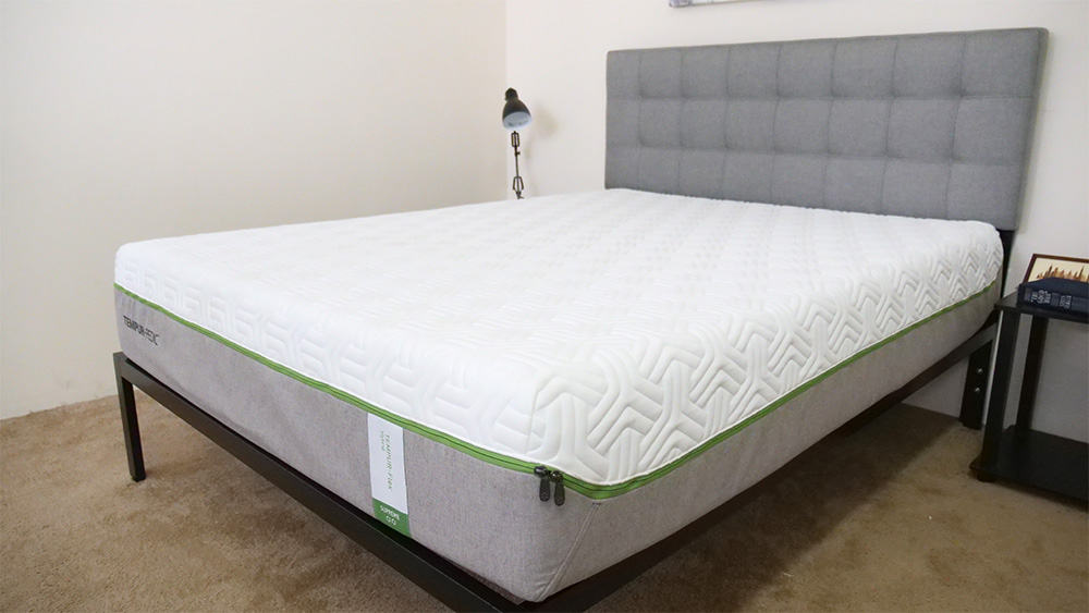 Tempurpedic Flex mattress on bed frame