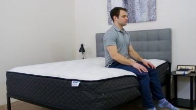 Bear Hybrid Mattress Edge Support Sitting