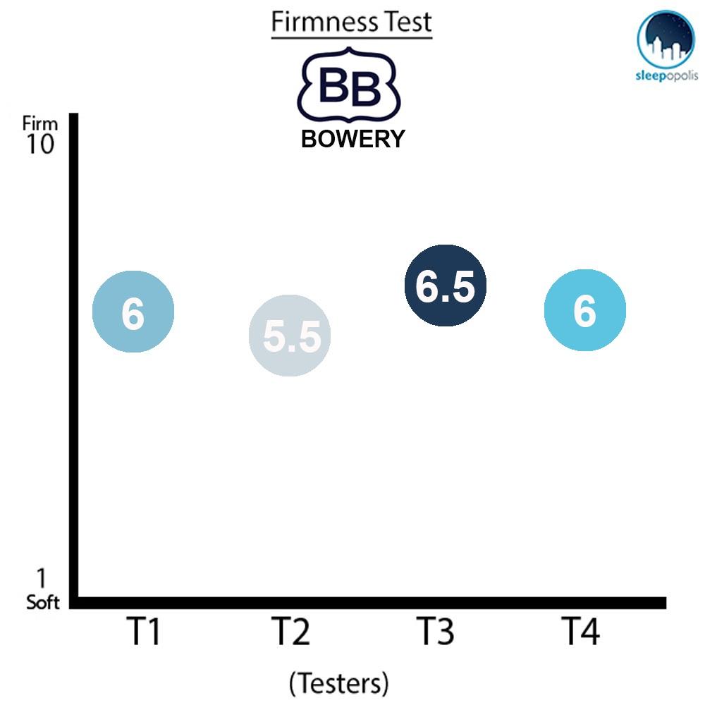 Brooklyn Bowery Firmness Graph