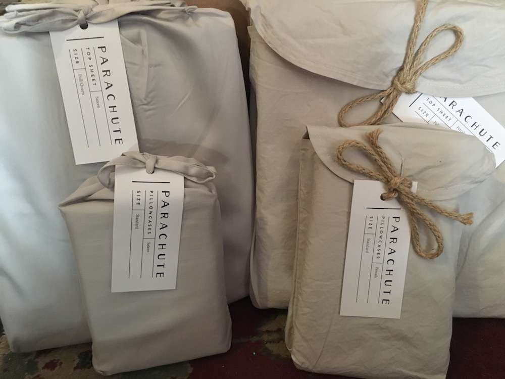 Parachute percale and sateen packaging