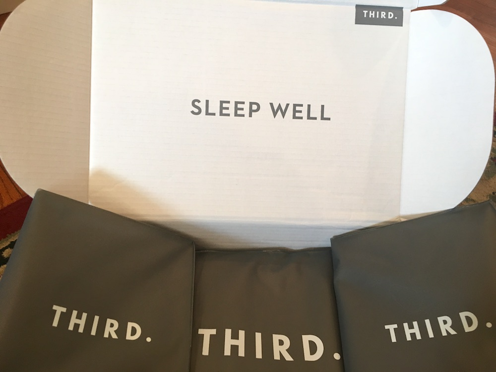 "Third sheet set in ""sleep well"" box"