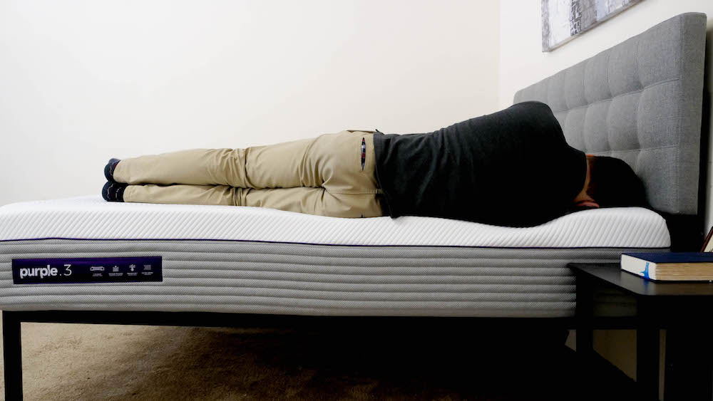 New Purple Mattress Spinal Alignment