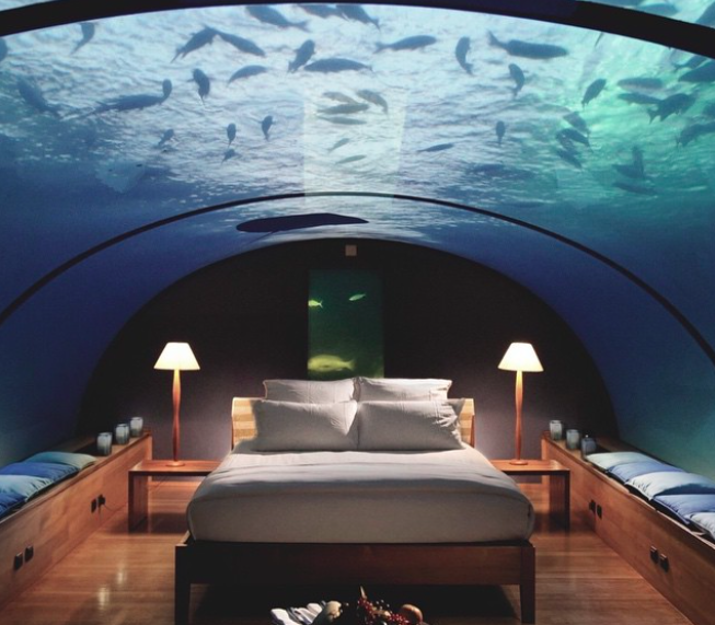 Hotel in the Maldives Offers Underwater Option for Adventurous Sleepers