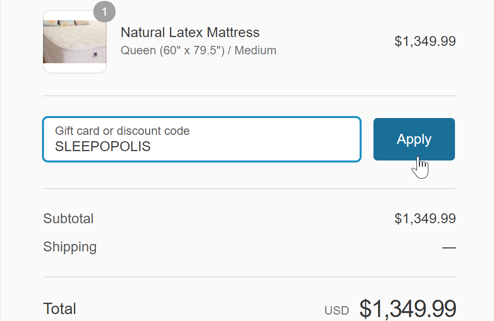Sleep on latex coupon code