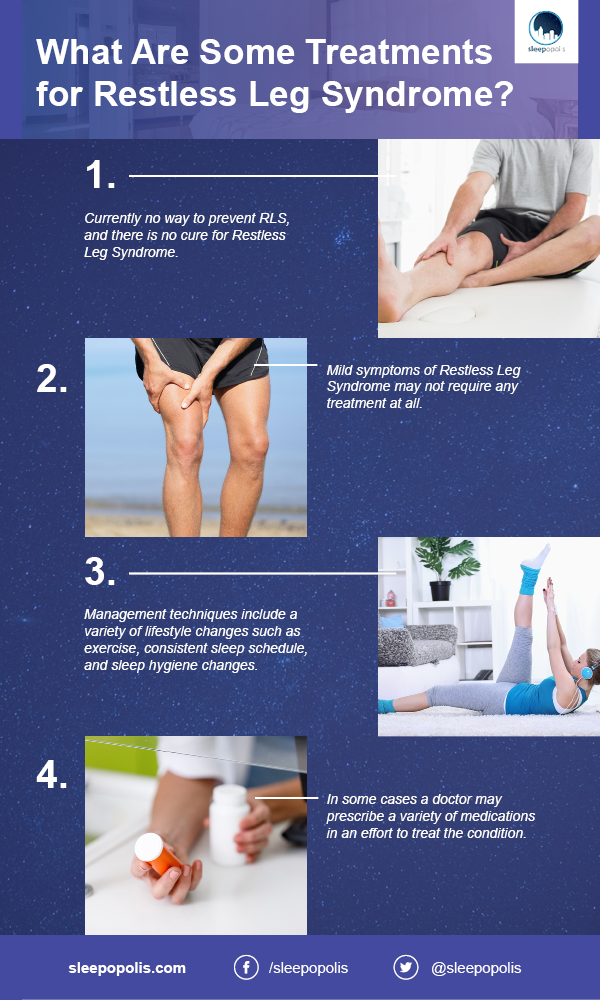 Some treatments for restless leg syndrome.
