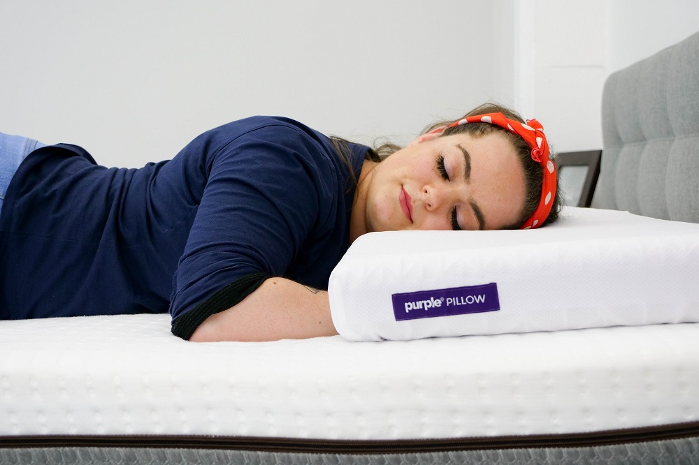 purple microbead com pillows bolster cushie pillow flexible extremely amazon squishy x dp comfortable hypoallergenic