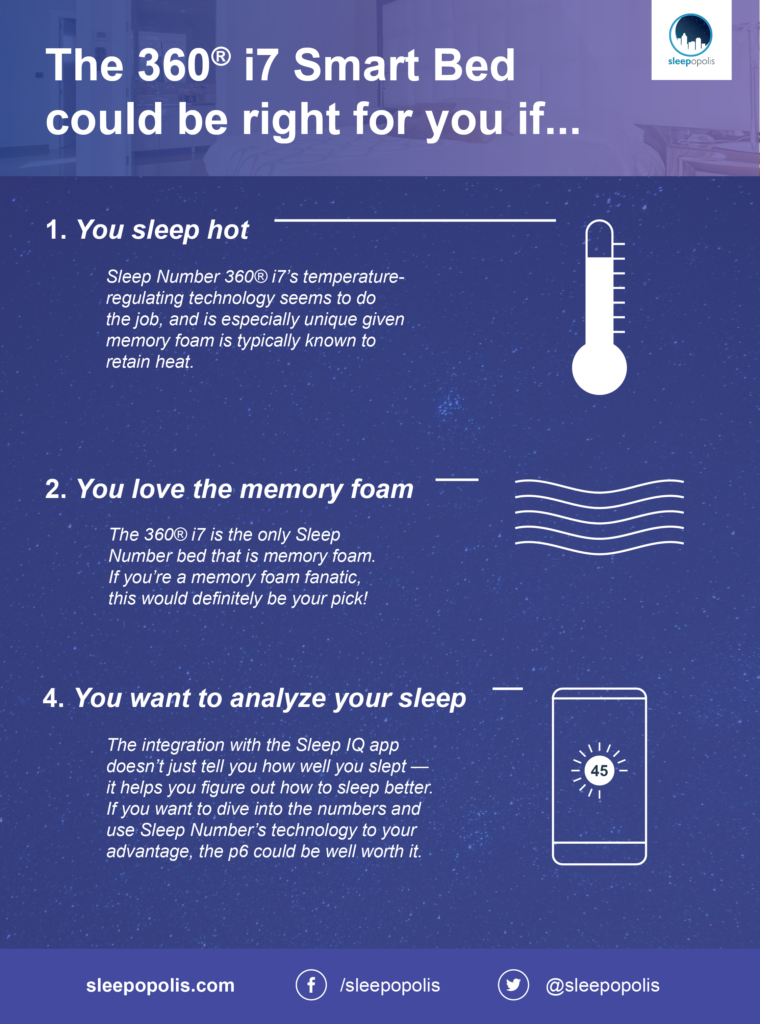 Sleep Number i7 pros and cons