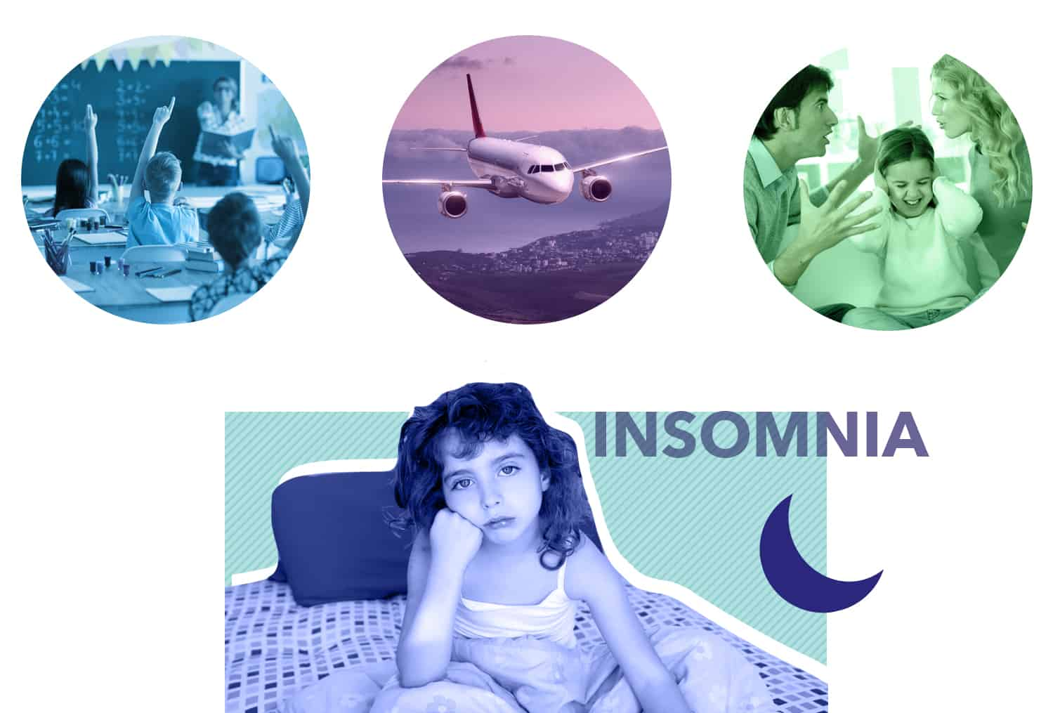 Mindfulness for Kids article revision, insomnia graphic