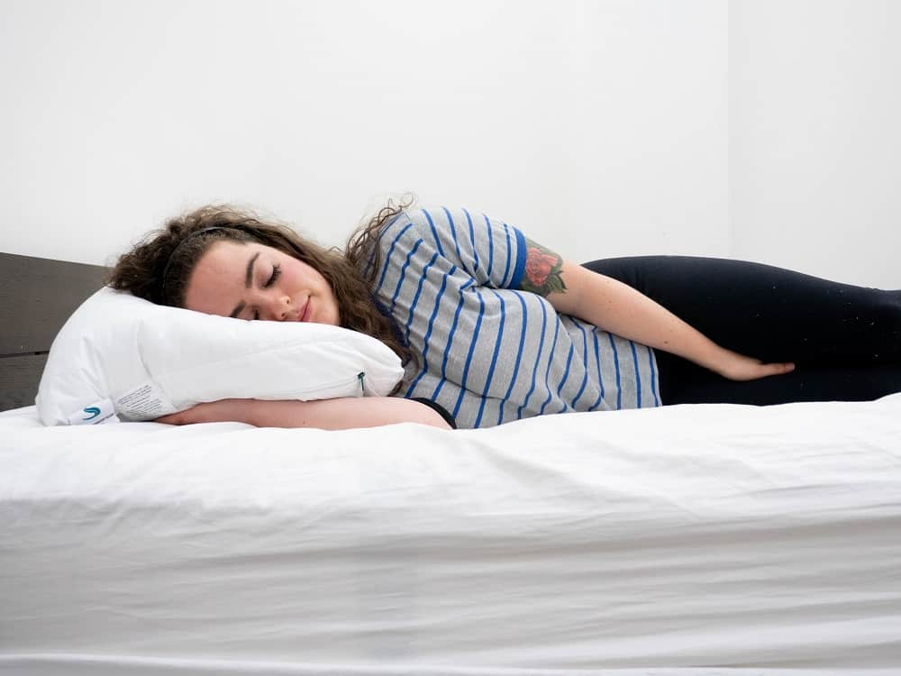Side sleeping on the Sleepgram pillow