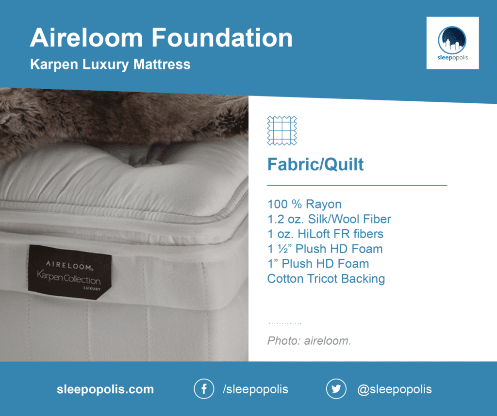 Karpen Luxury fabric and quilt