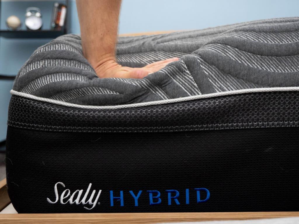 Sealy Hybrid Premium mattress sinking