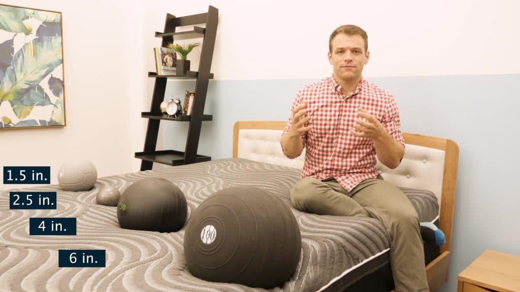 Sealy Hybrid Premium mattress sinkage