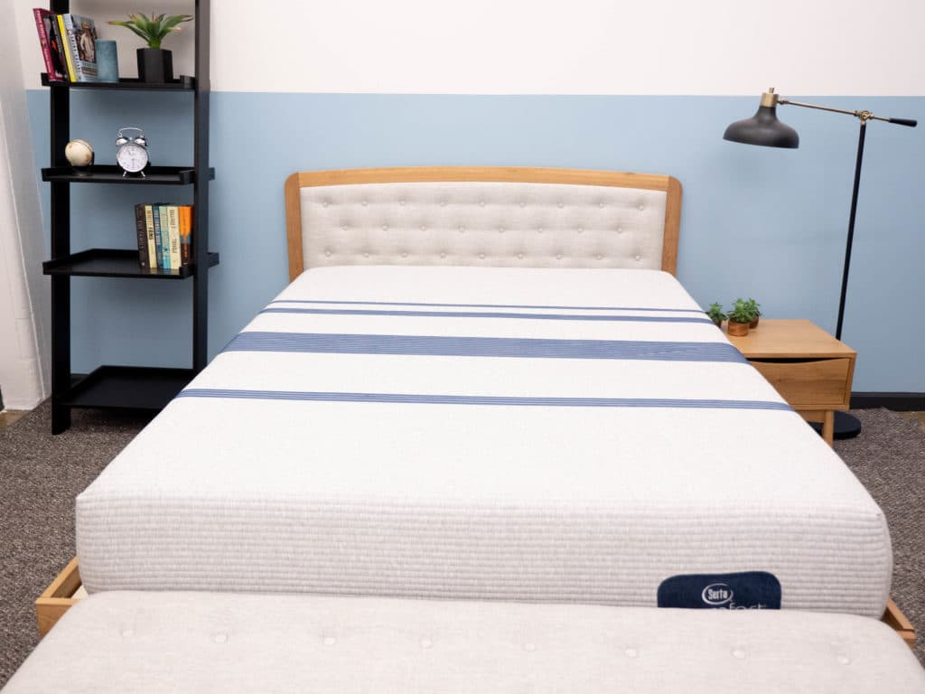 Serta iComfort Blue on bedframe