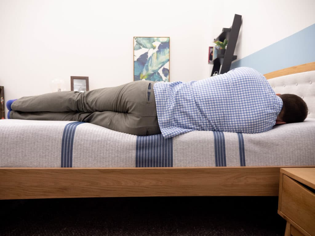 Side sleeping on the Serta iComfort Blue mattress