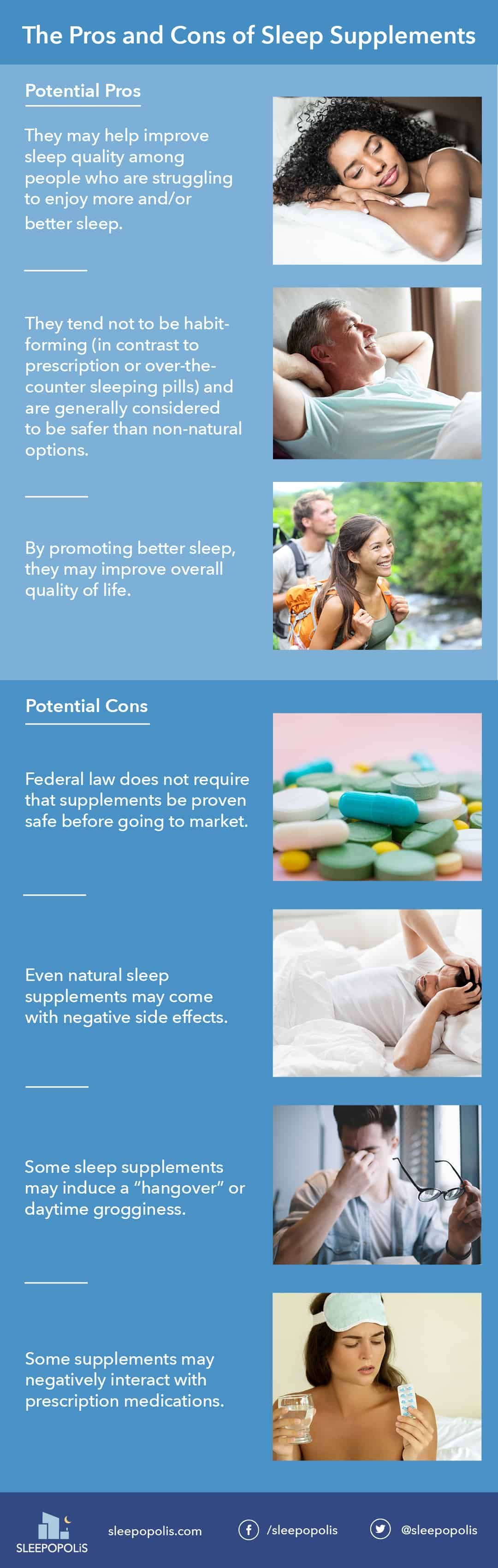 Sleep Supplements Pros and Cons
