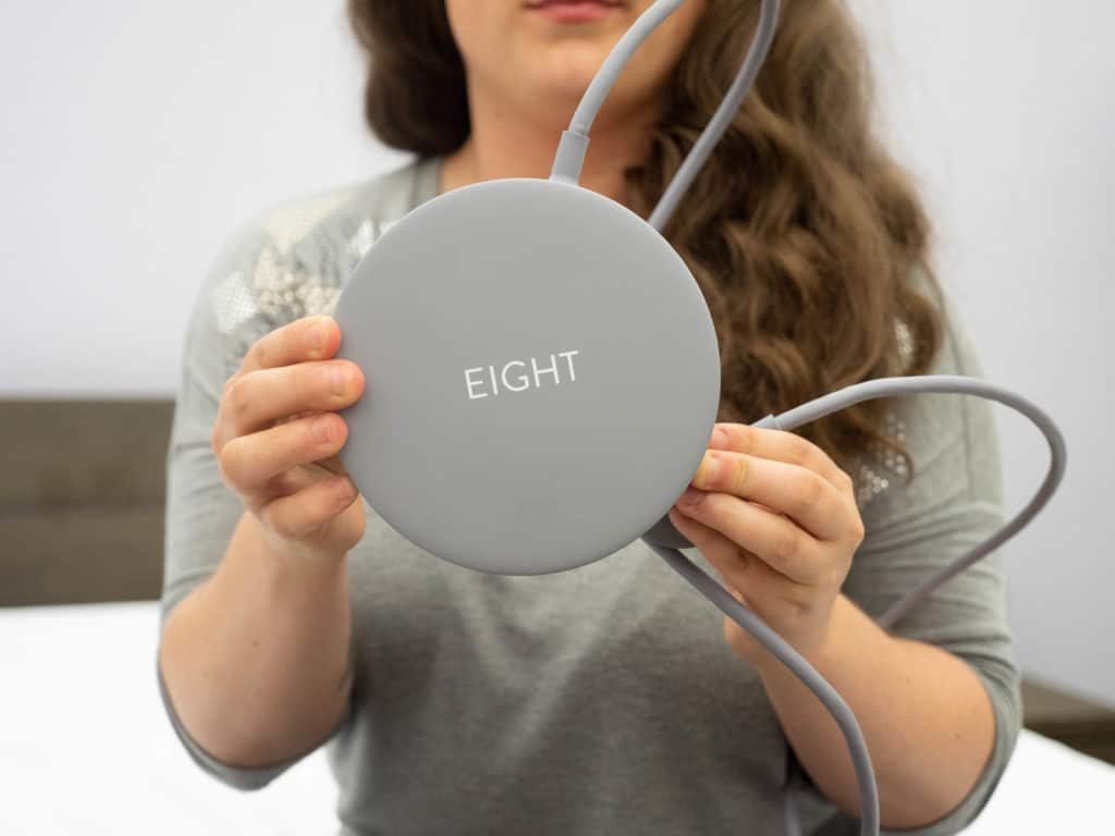 Eight Sleep Tracker Sarah Hold