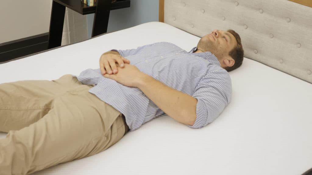 Back sleeping on the Casper mattress